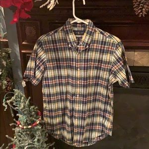Ralph Lauren plaid short sleeve button down oxford